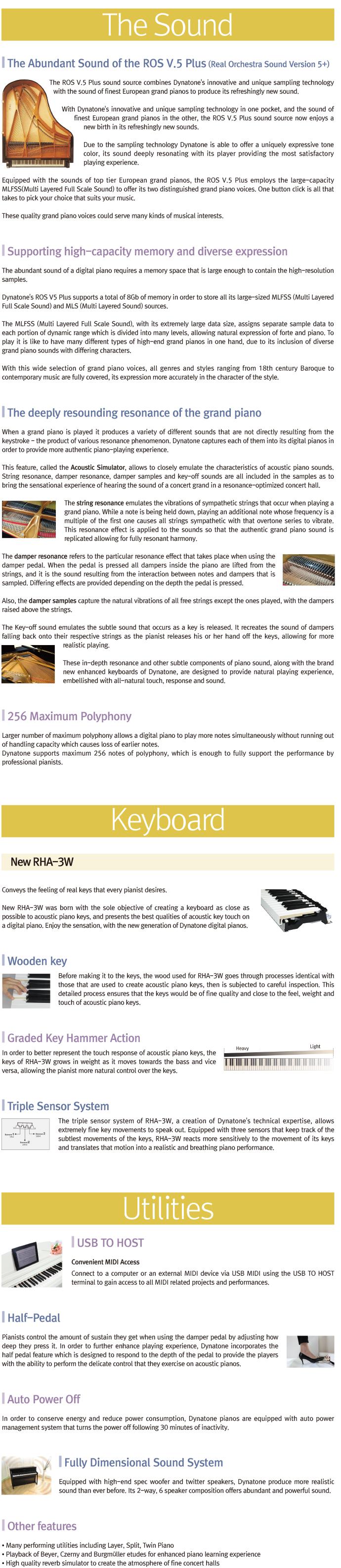 مشخصات پیانوی دیجیتال دایناتون مدل SGP-600