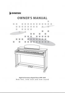 دفترچه راهنمای پیانو دیجیتال دایناتون مدل DPR-1650 صفحه 01