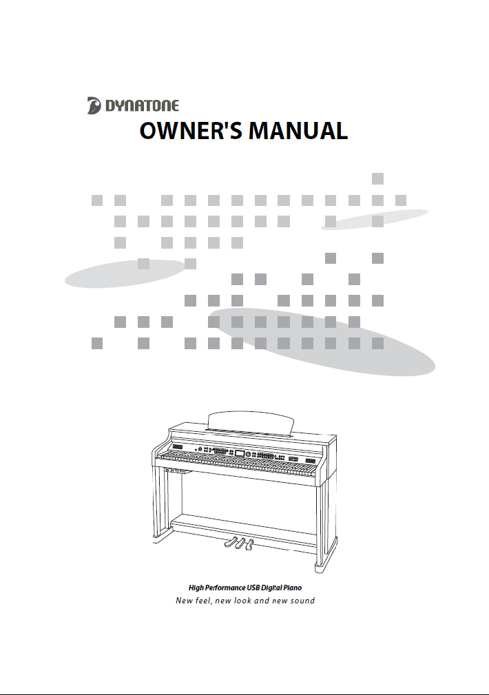 دفترچه راهنمای پیانو دیجیتال دایناتون مدل DPR-3500 صفحه 01