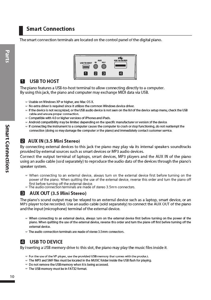 دفترچه راهنمای پیانو دیجیتال دایناتون مدل DPR-3500 صفحه 11