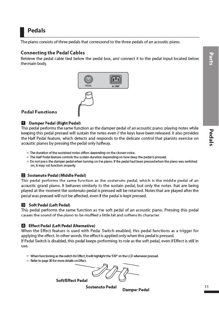 دفترچه راهنمای پیانو دیجیتال دایناتون مدل DPR-3500 صفحه 12