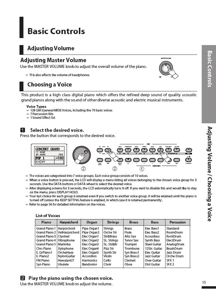 دفترچه راهنمای پیانو دیجیتال دایناتون مدل DPR-3500 صفحه 16
