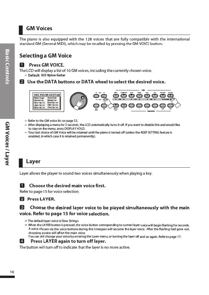 دفترچه راهنمای پیانو دیجیتال دایناتون مدل DPR-3500 صفحه 17
