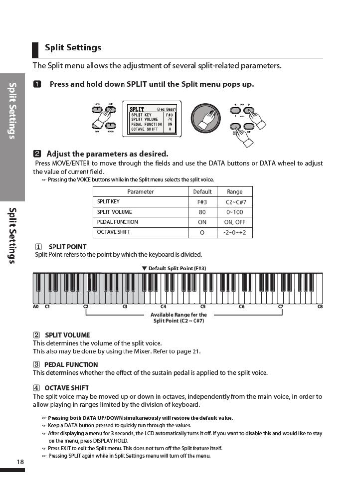 دفترچه راهنمای پیانو دیجیتال دایناتون مدل DPR-3500 صفحه 19