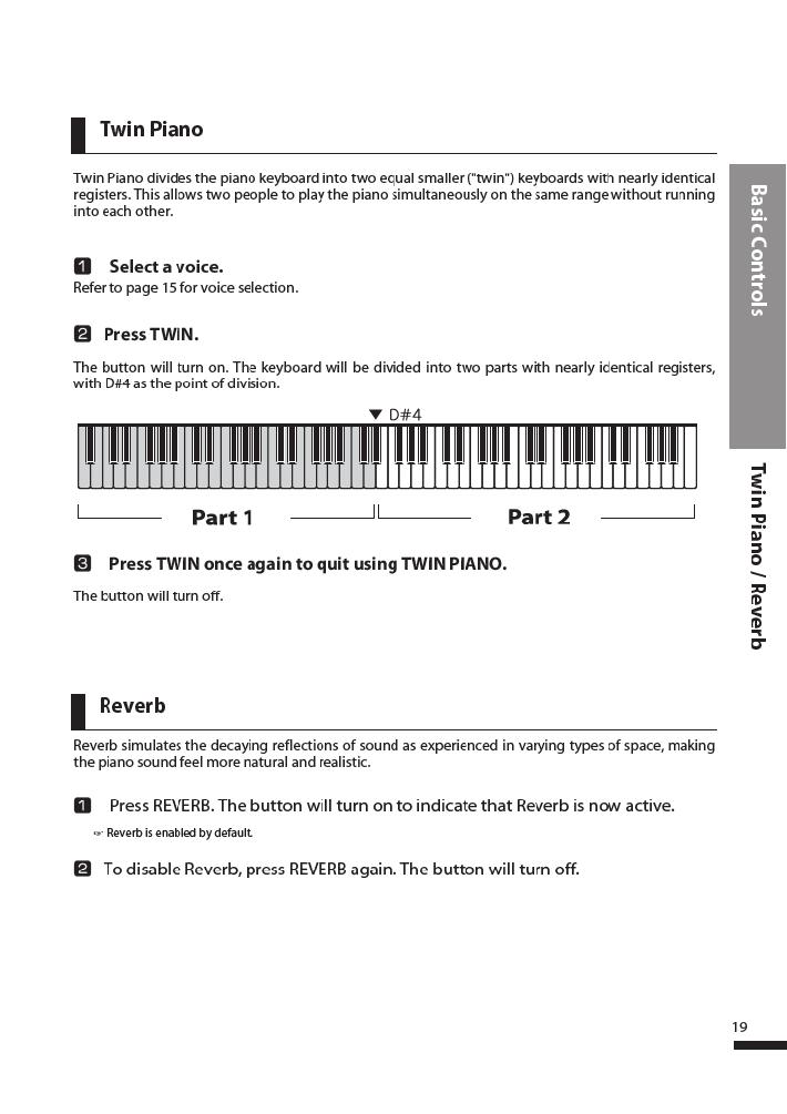 دفترچه راهنمای پیانو دیجیتال دایناتون مدل DPR-3500 صفحه 20