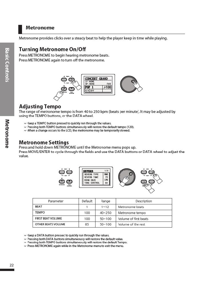 دفترچه راهنمای پیانو دیجیتال دایناتون مدل DPR-3500 صفحه 23
