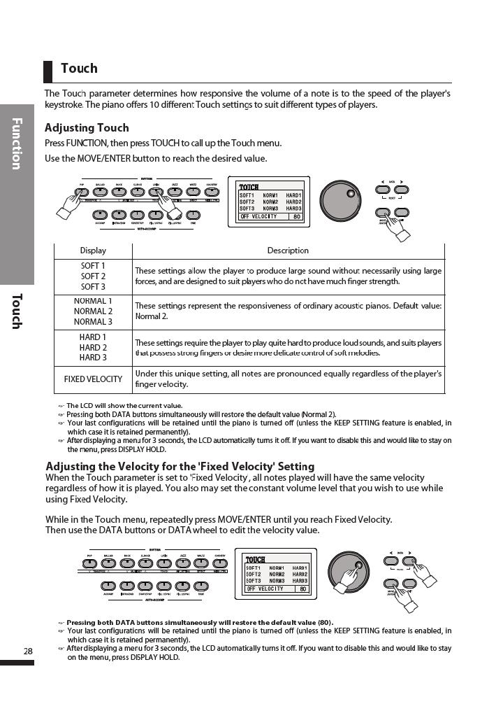 دفترچه راهنمای پیانو دیجیتال دایناتون مدل DPR-3500 صفحه 29