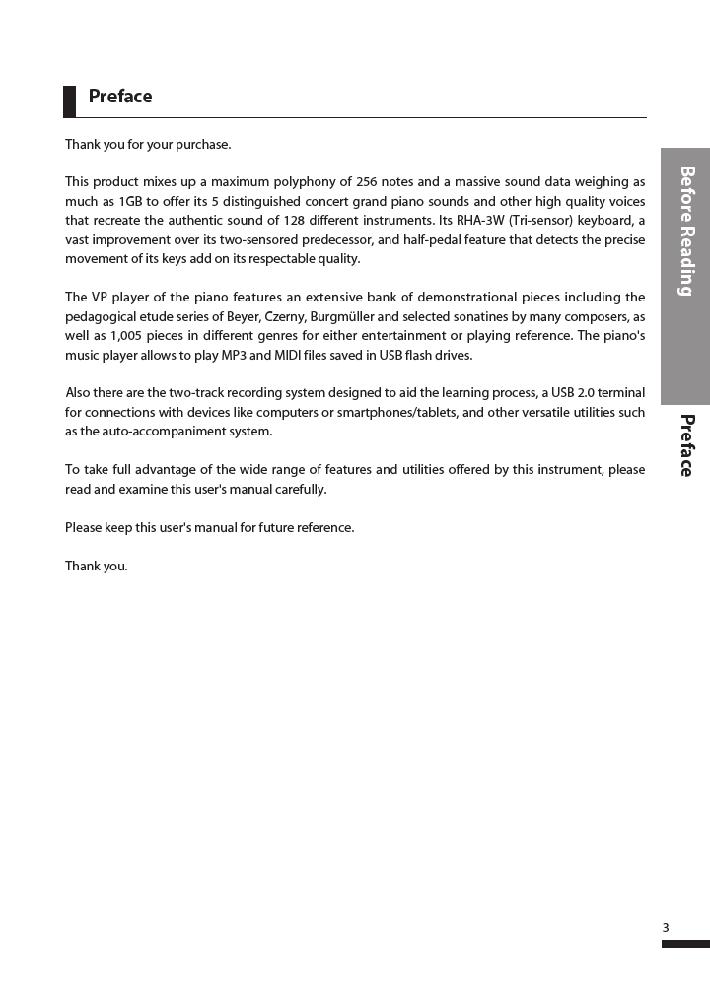 دفترچه راهنمای پیانو دیجیتال دایناتون مدل DPR-3500 صفحه 04