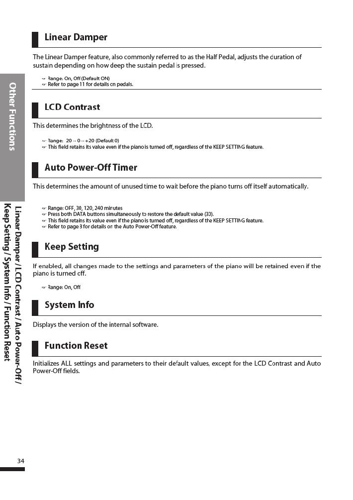 دفترچه راهنمای پیانو دیجیتال دایناتون مدل DPR-3500 صفحه 35