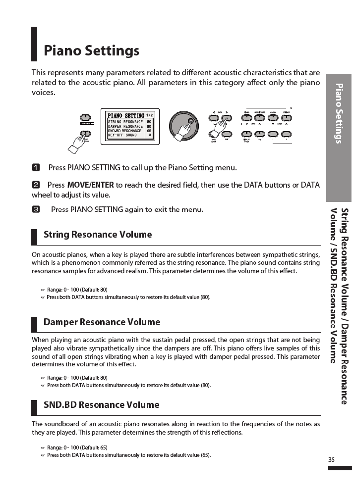 دفترچه راهنمای پیانو دیجیتال دایناتون مدل DPR-3500 صفحه 36
