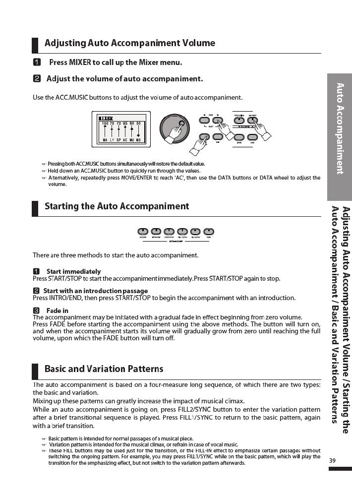 دفترچه راهنمای پیانو دیجیتال دایناتون مدل DPR-3500 صفحه 40