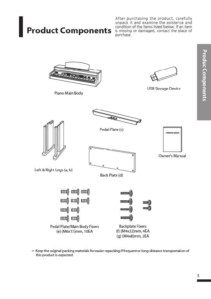 دفترچه راهنمای پیانو دیجیتال دایناتون مدل DPR-3500 صفحه 06