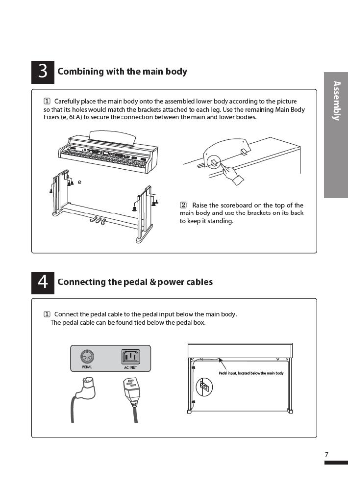 دفترچه راهنمای پیانو دیجیتال دایناتون مدل DPR-3500 صفحه 08