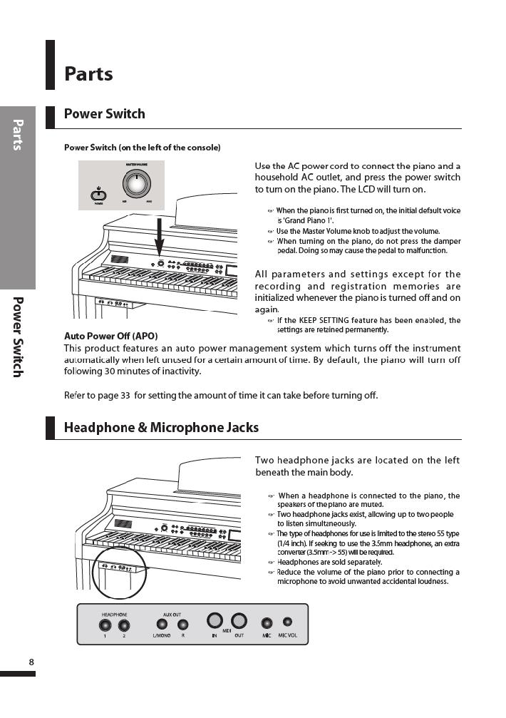 دفترچه راهنمای پیانو دیجیتال دایناتون مدل DPR-3500 صفحه 09