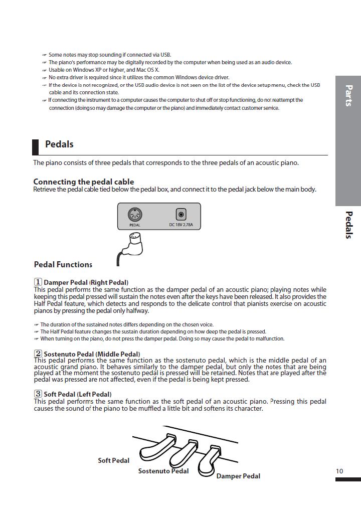 دفترچه راهنمای پیانو دیجیتال دایناتون مدل DPS-80H صفحه 10
