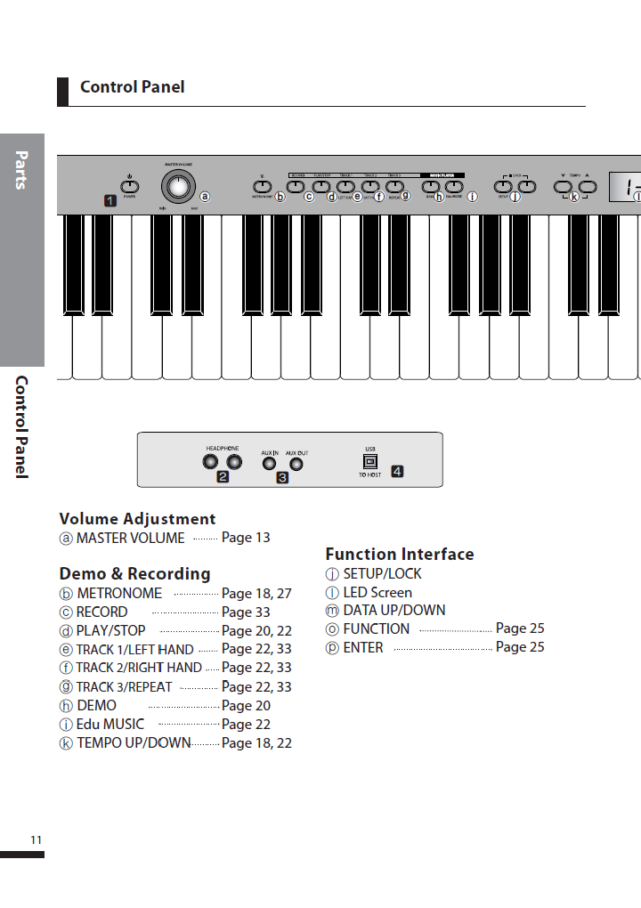دفترچه راهنمای پیانو دیجیتال دایناتون مدل DPS-80H صفحه 11