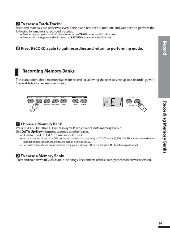 دفترچه راهنمای پیانو دیجیتال دایناتون مدل DPS-80H صفحه 34