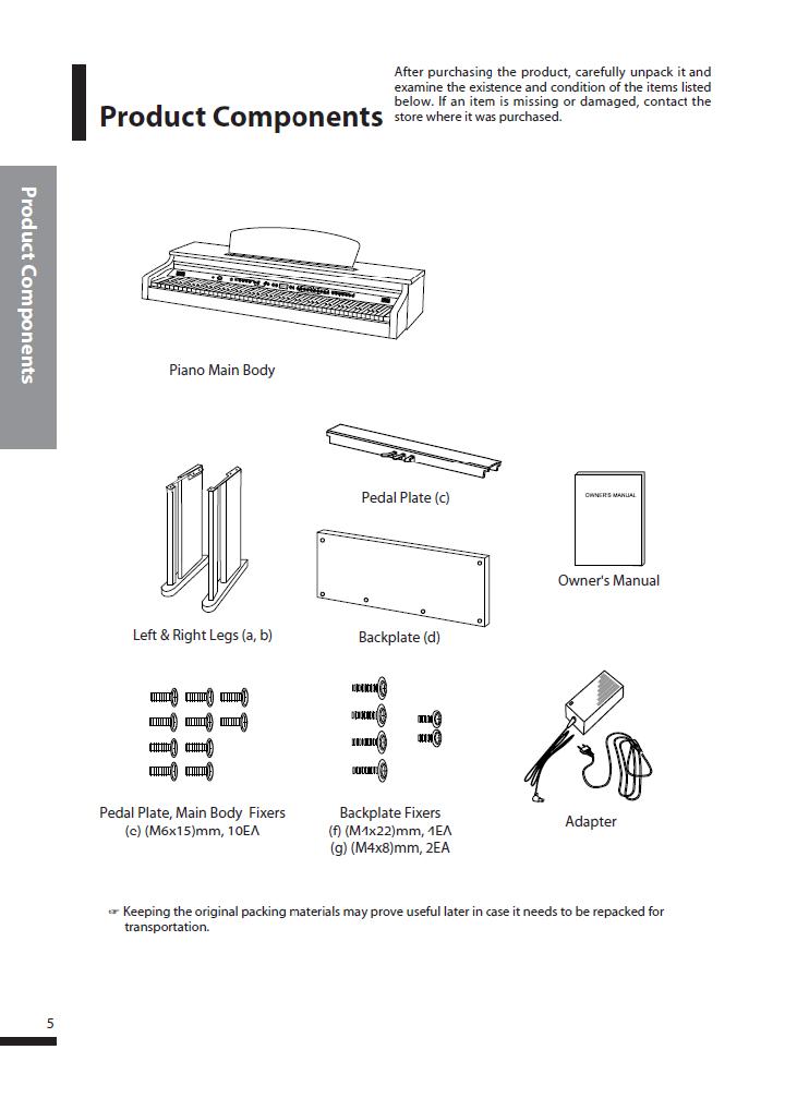 دفترچه راهنمای پیانو دیجیتال دایناتون مدل DPS-80H صفحه 05