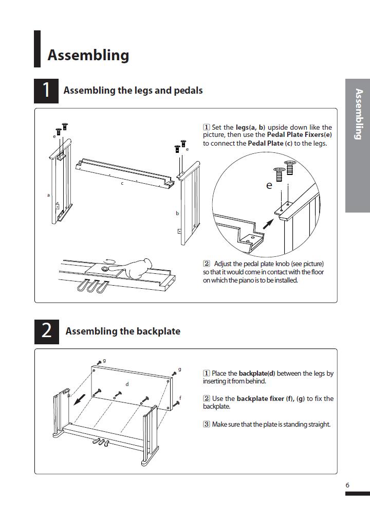 دفترچه راهنمای پیانو دیجیتال دایناتون مدل DPS-80H صفحه 06