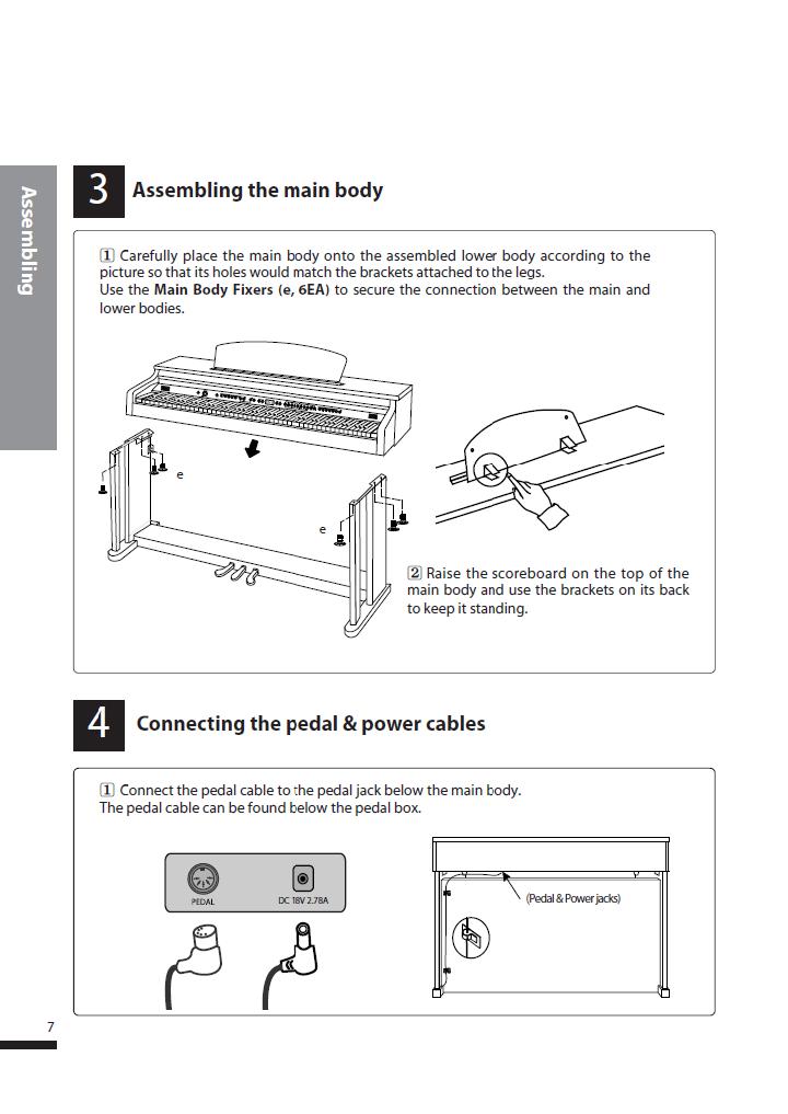 دفترچه راهنمای پیانو دیجیتال دایناتون مدل DPS-80H صفحه 07