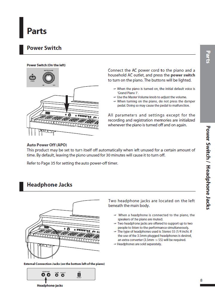 دفترچه راهنمای پیانو دیجیتال دایناتون مدل DPS-80H صفحه 08