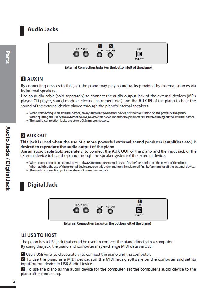 دفترچه راهنمای پیانو دیجیتال دایناتون مدل DPS-80H صفحه 09