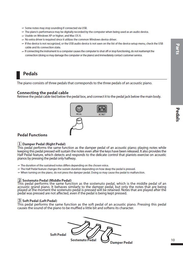 دفترچه راهنمای پیانو دیجیتال دایناتون مدل DPS-90H صفحه 10