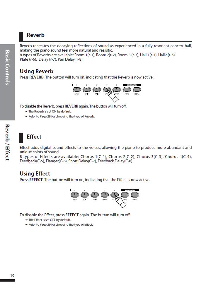 دفترچه راهنمای پیانو دیجیتال دایناتون مدل DPS-90H صفحه 19