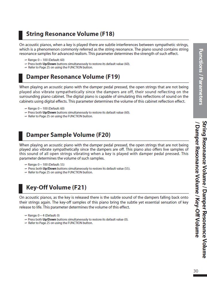 دفترچه راهنمای پیانو دیجیتال دایناتون مدل DPS-90H صفحه 30