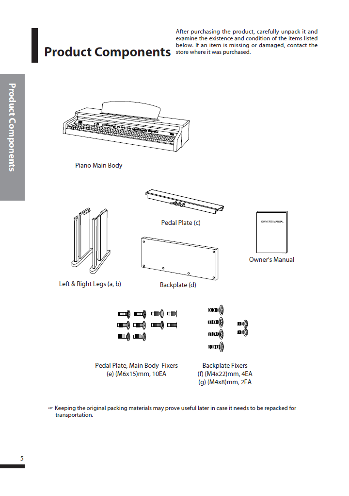 دفترچه راهنمای پیانو دیجیتال دایناتون مدل DPS-90H صفحه 05