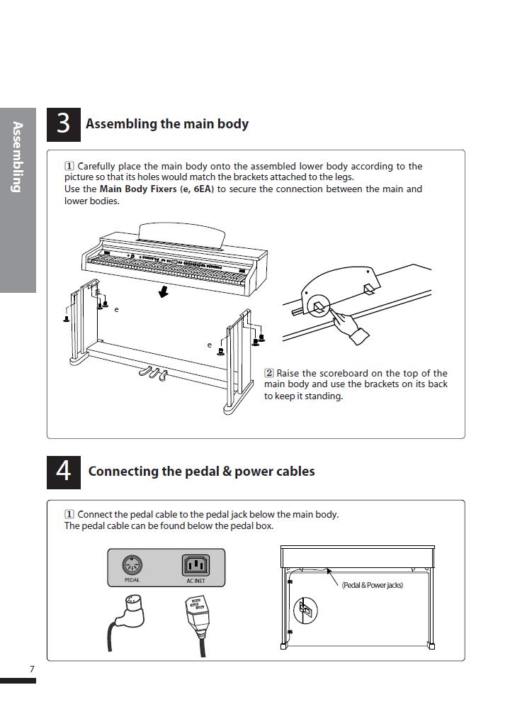دفترچه راهنمای پیانو دیجیتال دایناتون مدل DPS-90H صفحه 07