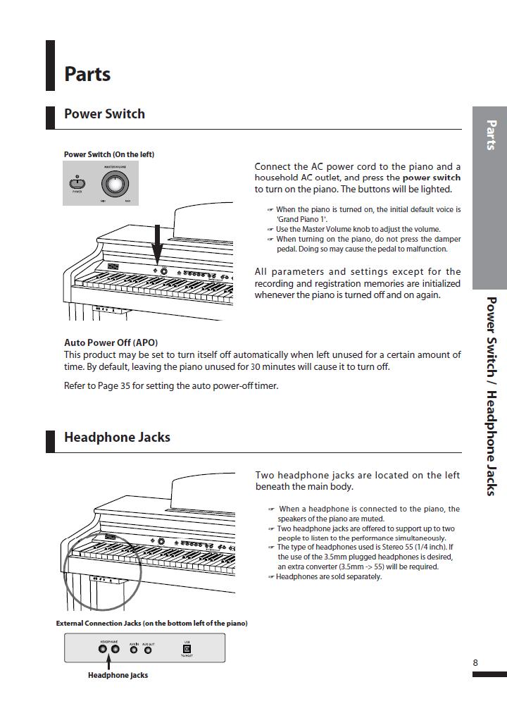 دفترچه راهنمای پیانو دیجیتال دایناتون مدل DPS-90H صفحه 08