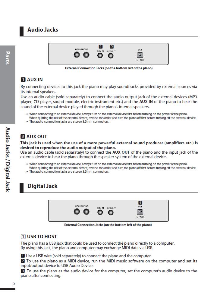 دفترچه راهنمای پیانو دیجیتال دایناتون مدل DPS-90H صفحه 09