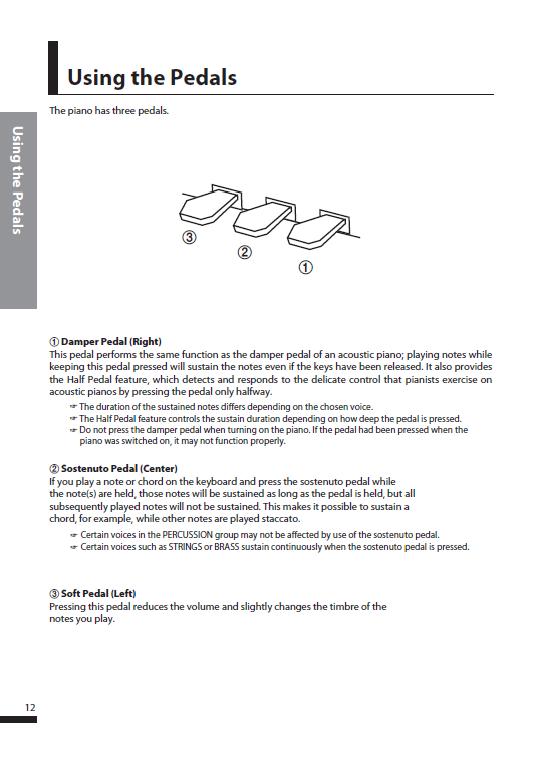 کاتالوگ پیانو دیجیتال دایناتون مدل SDP-600 صفحه 15