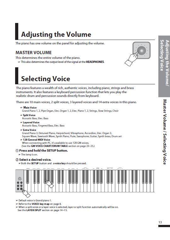 کاتالوگ پیانو دیجیتال دایناتون مدل SDP-600 صفحه 16