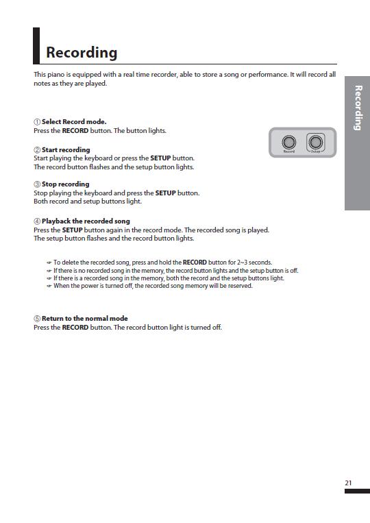 کاتالوگ پیانو دیجیتال دایناتون مدل SDP-600 صفحه 24