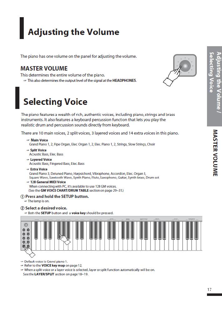 کاتالوگ پیانو دیجیتال دایناتون مدل SGP-600 صفحه 18