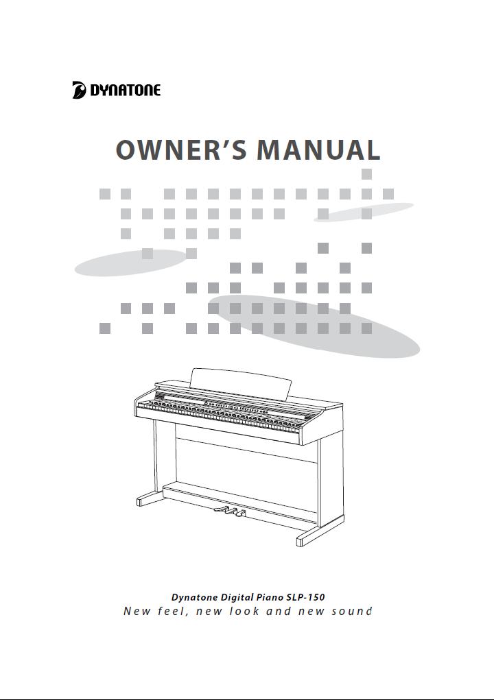 دفترچه راهنمای پیانو دیجیتال دایناتون مدل SLP-150