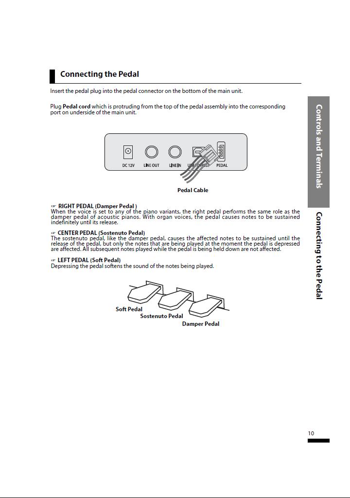 دفترچه راهنمای پیانو دیجیتال دایناتون مدل SLP-150 صفحه10