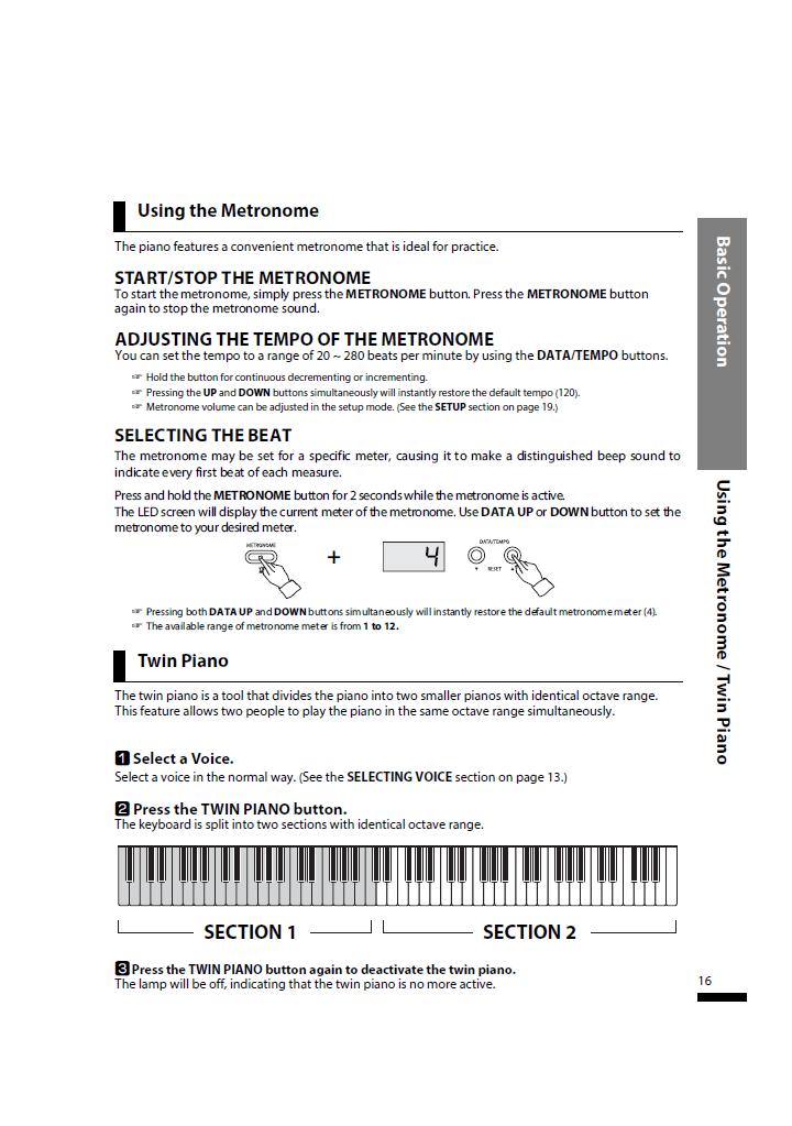 دفترچه راهنمای پیانو دیجیتال دایناتون مدل SLP-150 صفحه16