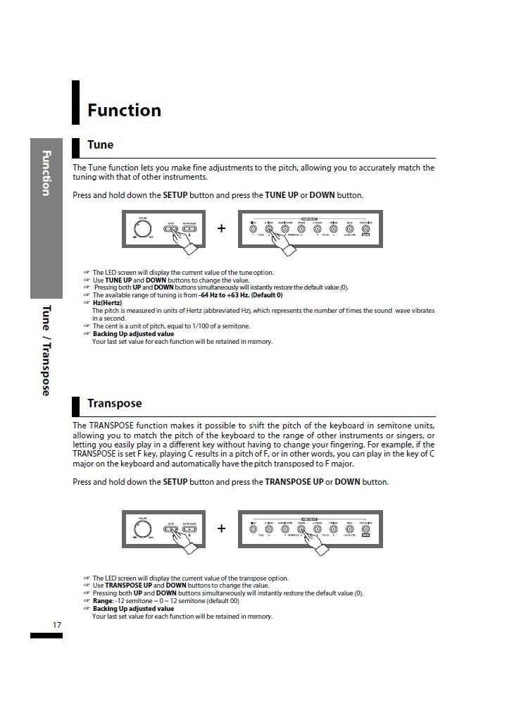 دفترچه راهنمای پیانو دیجیتال دایناتون مدل SLP-150 صفحه17