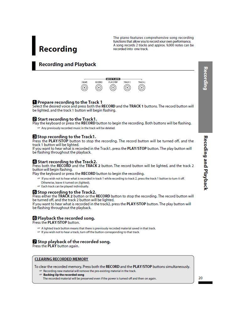 دفترچه راهنمای پیانو دیجیتال دایناتون مدل SLP-150 صفحه20