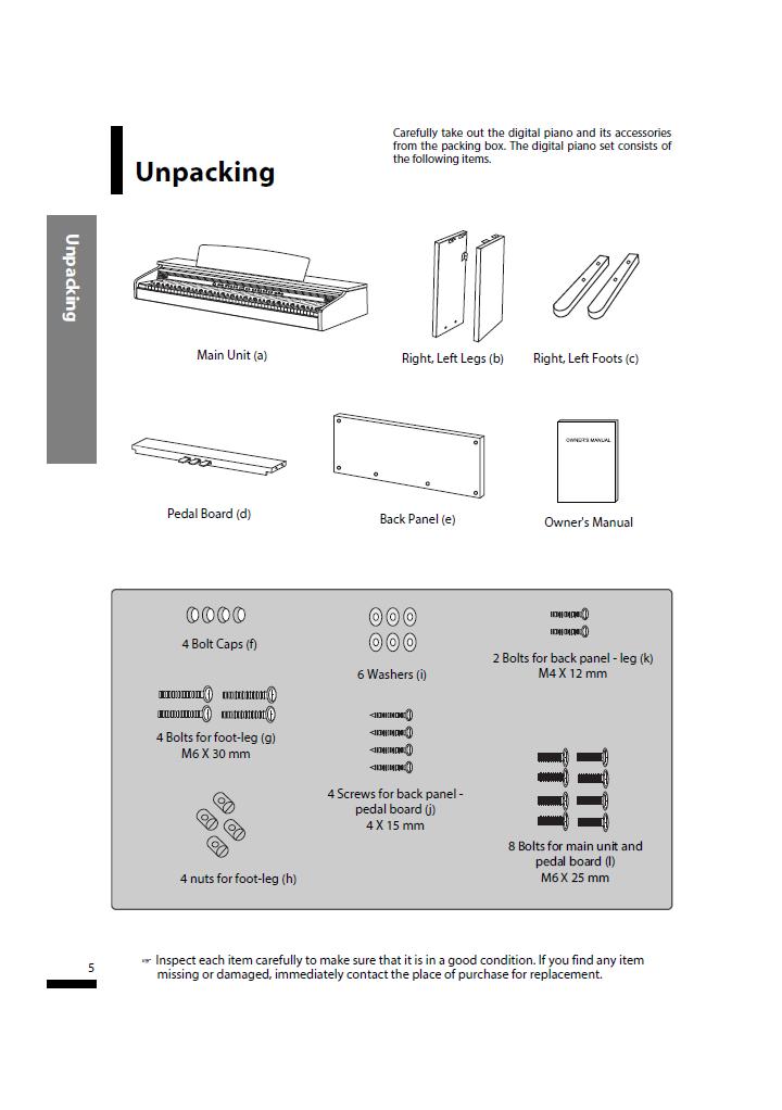 دفترچه راهنمای پیانو دیجیتال دایناتون مدل SLP-150 صفحه05