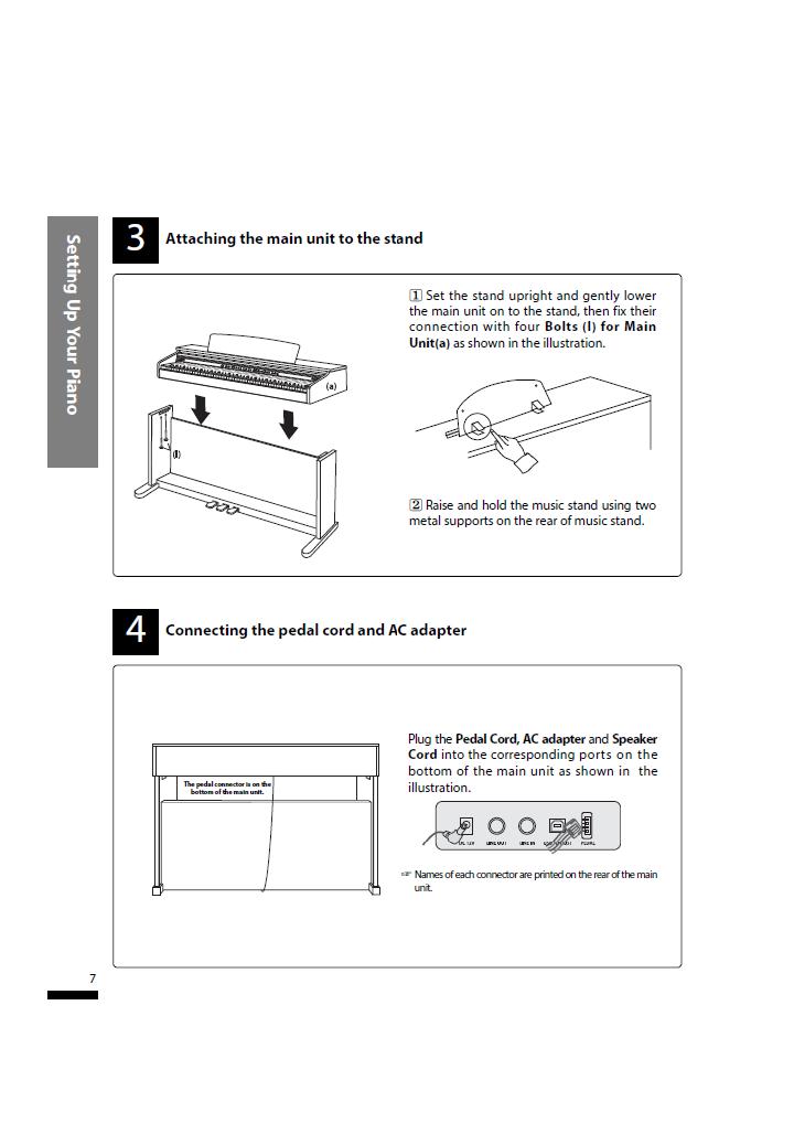 دفترچه راهنمای پیانو دیجیتال دایناتون مدل SLP-150 صفحه07