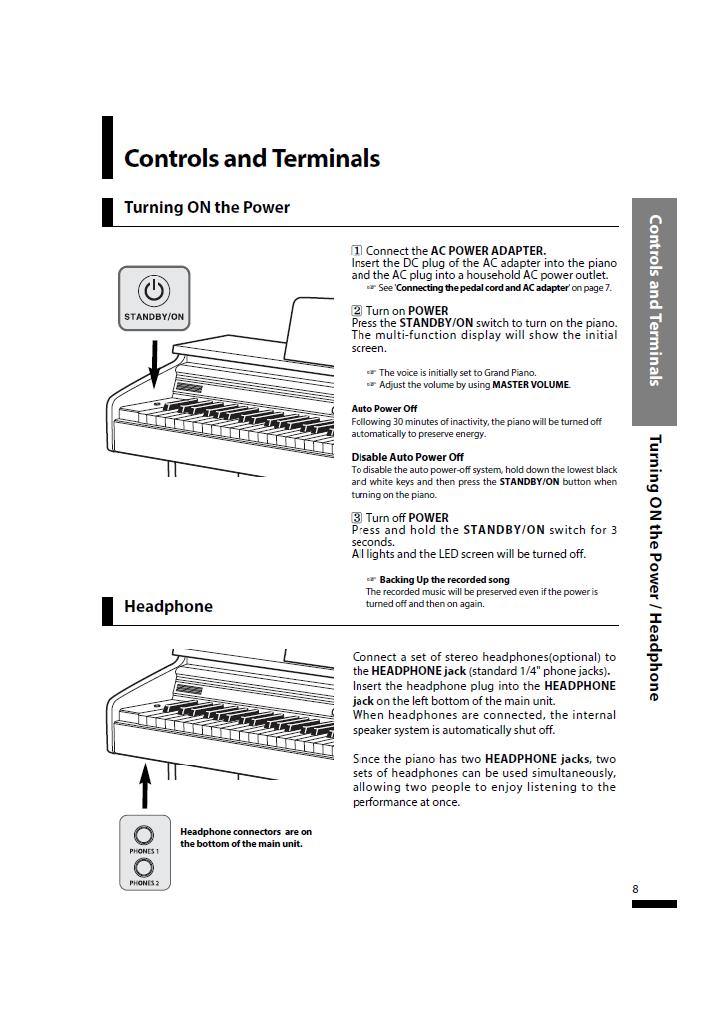 دفترچه راهنمای پیانو دیجیتال دایناتون مدل SLP-150 صفحه08