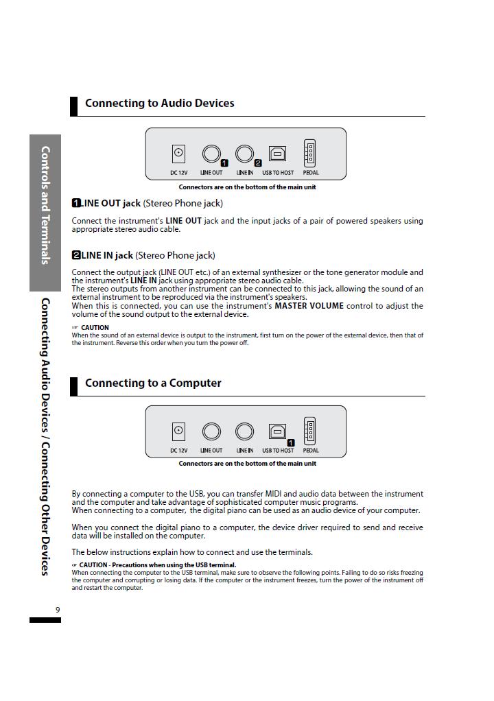 دفترچه راهنمای پیانو دیجیتال دایناتون مدل SLP-150 صفحه09