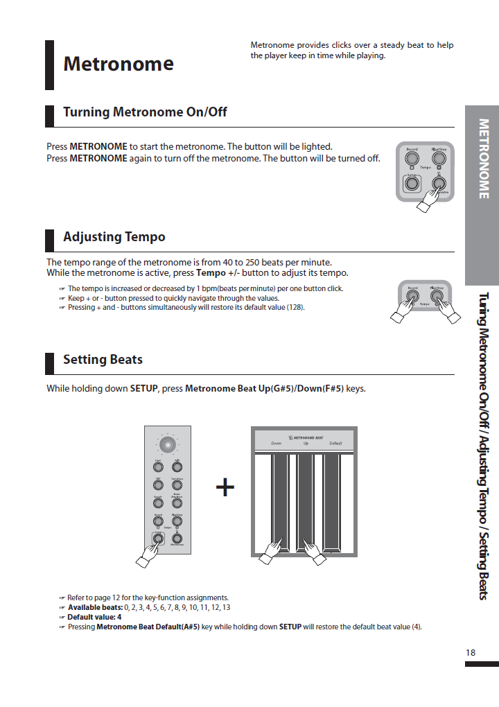 دفترچه راهنمای پیانو دیجیتال دایناتون مدل SLP-250 صفحه 18