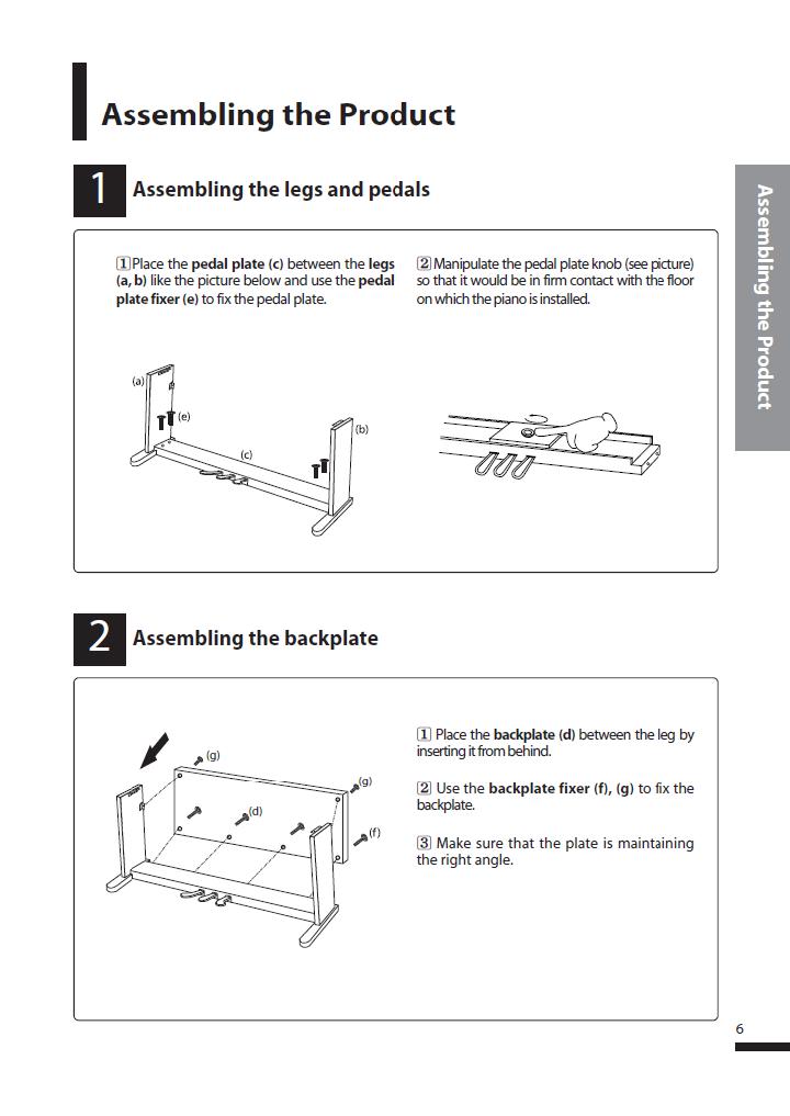 دفترچه راهنمای پیانو دیجیتال دایناتون مدل SLP-250 صفحه 06