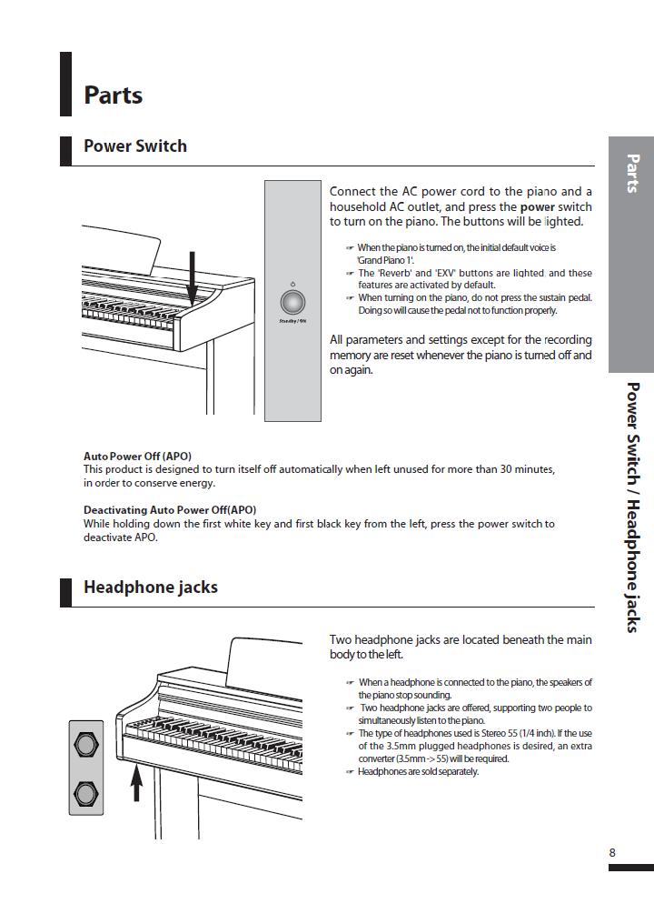دفترچه راهنمای پیانو دیجیتال دایناتون مدل SLP-250 صفحه 08