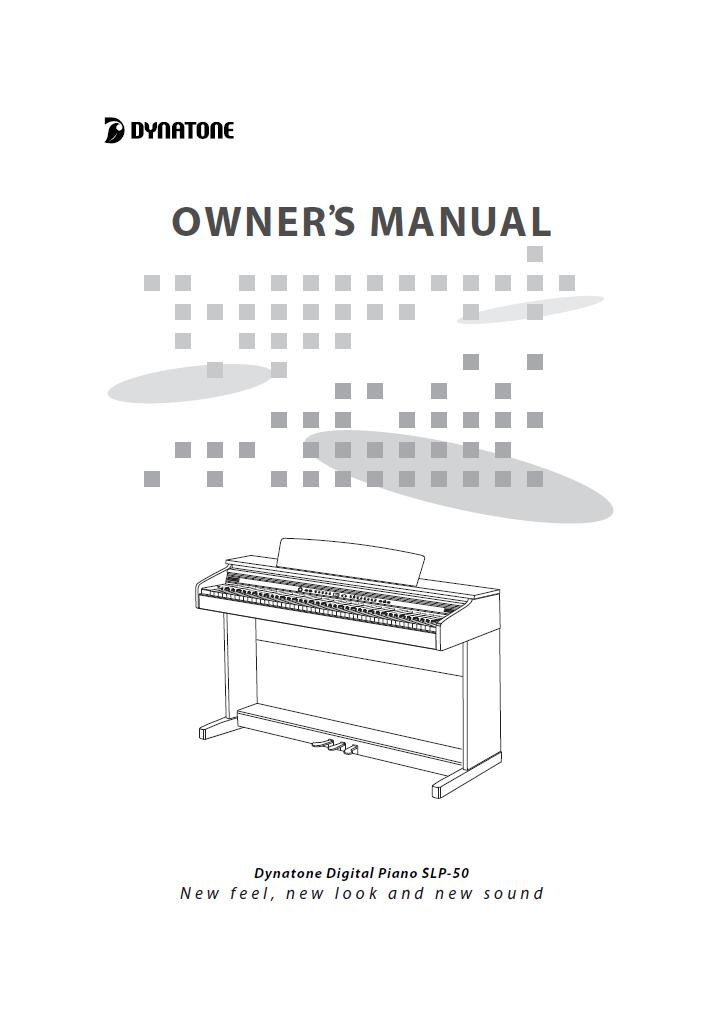 دفترچه راهنمای پیانو دیجیتال دایناتون مدل SLP-50